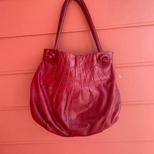 HOBO Rounded red Leather bag